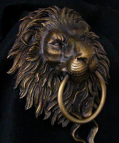 Beau Lion Door Knocker
