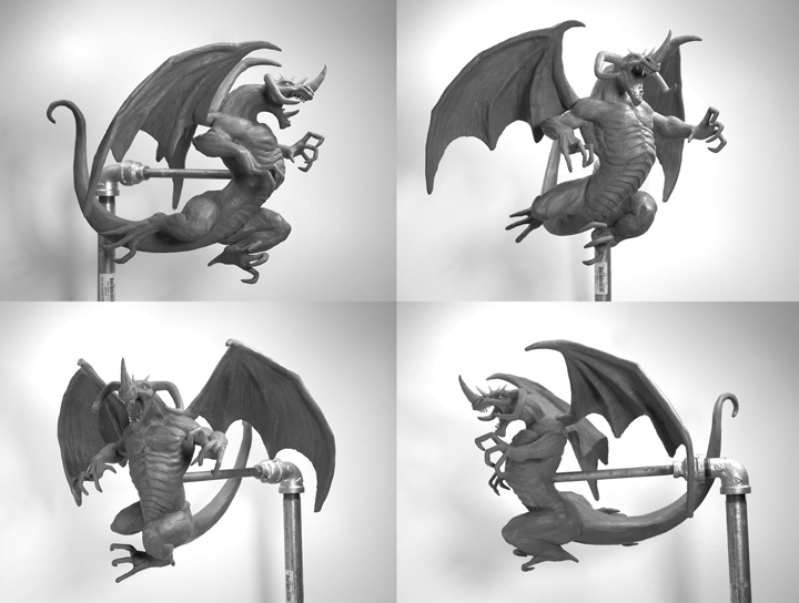 Berserker Dragon Clan Sculpture in Process