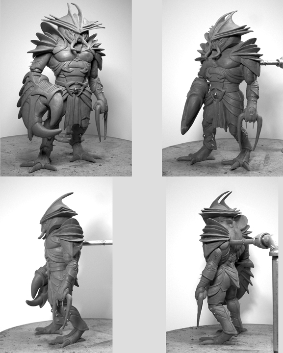 Cancer Action Figure Turnaround Shots