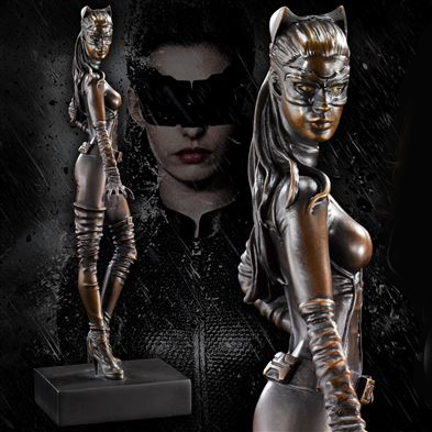 Solid Bronze Catwoman Statue