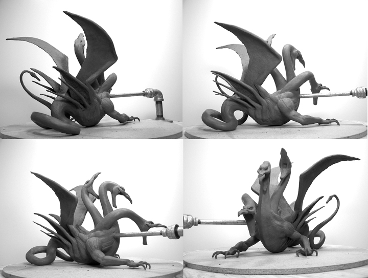 McFarlane Hydra Dragon Clan Statue in Clay