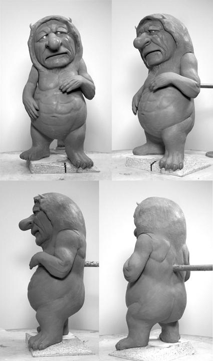 Clay Versions of Ira from Where the Wild Things Are