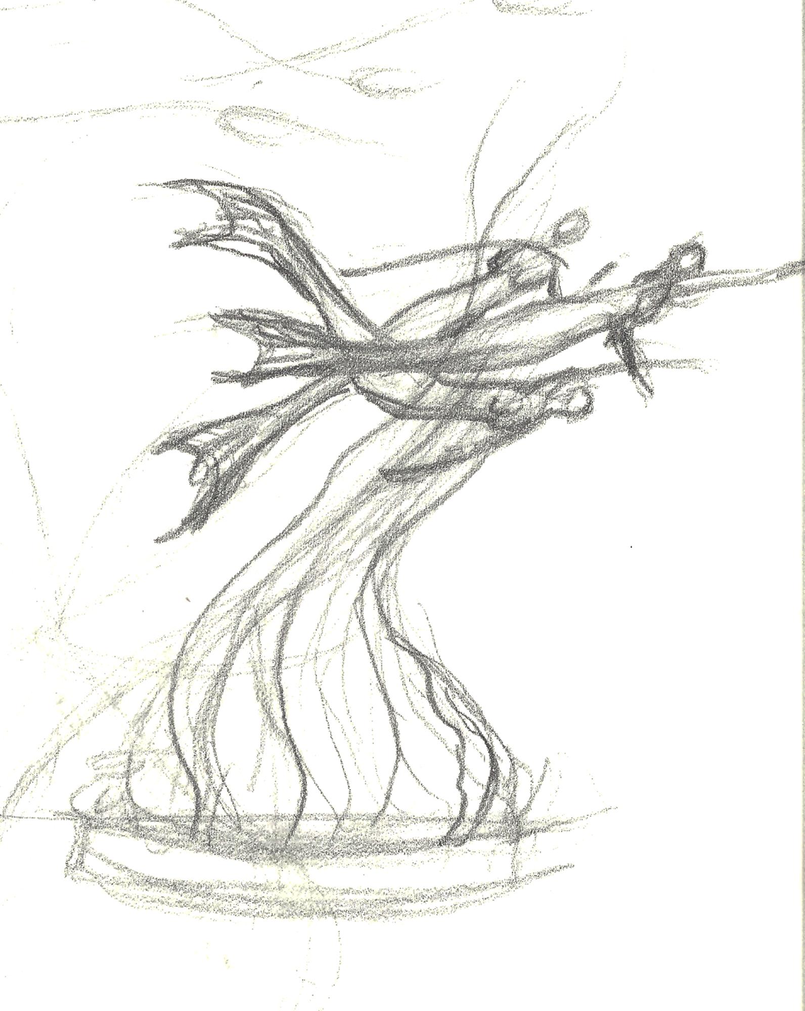 Mermaid Sculpture Drawings by Karl Deen Sanders