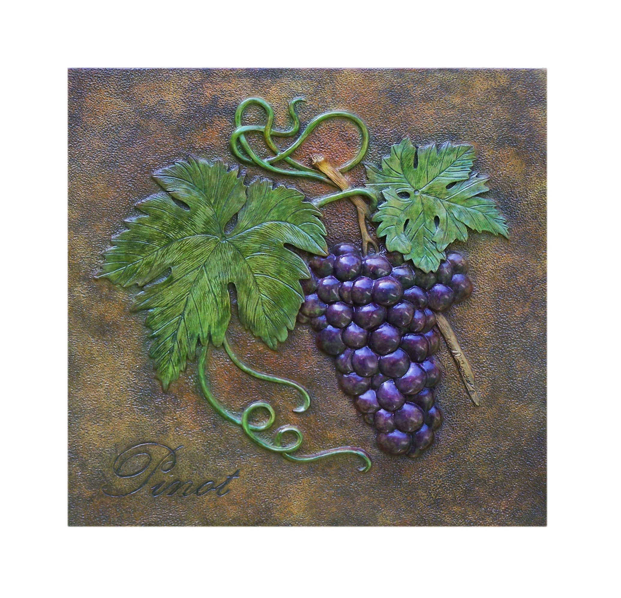 decorative grape plaque