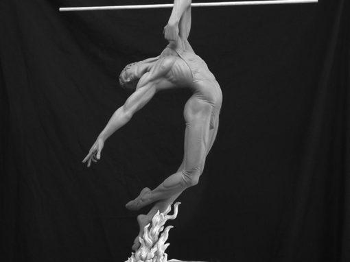 Bronze Cast Male Figure Sculpture