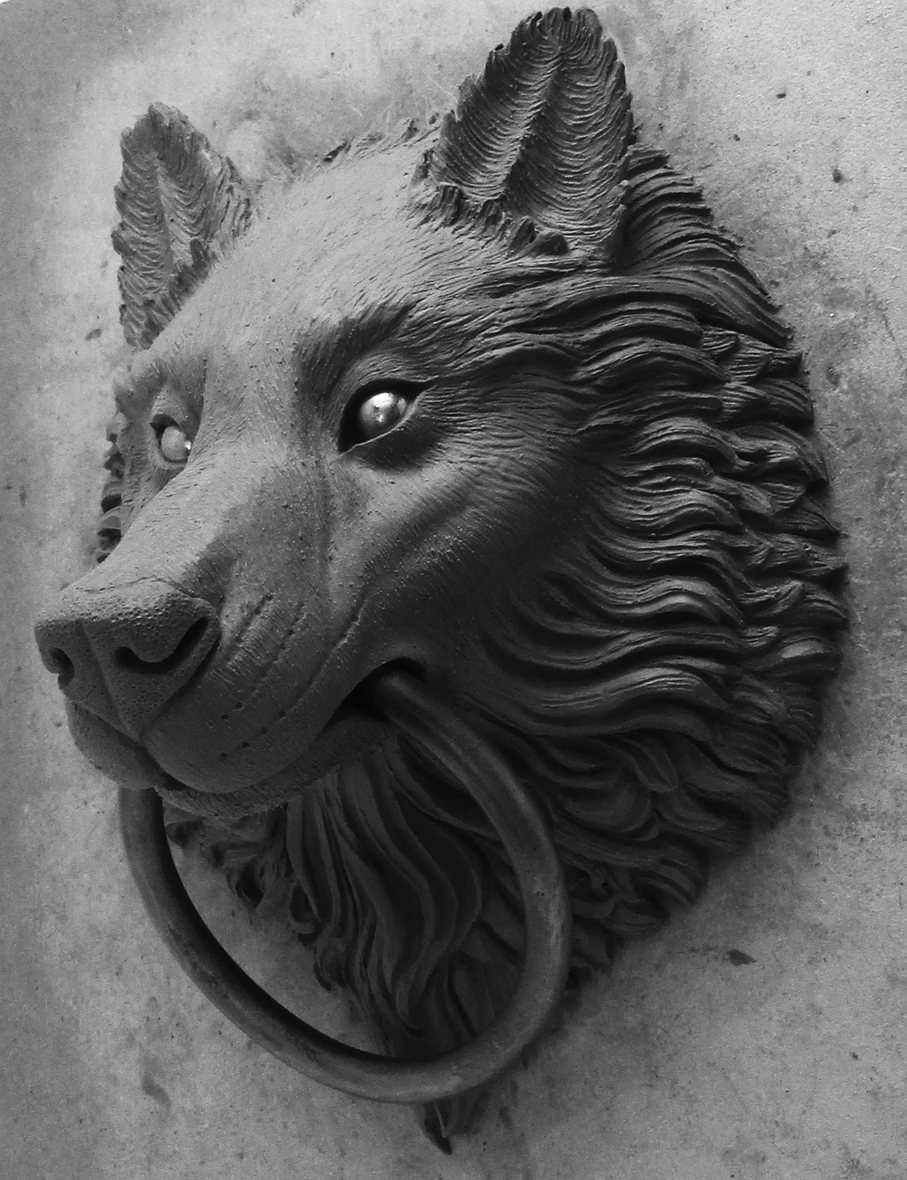 Wolf Door Knocker Bronze Wolf Doorknocker By Karl Deen