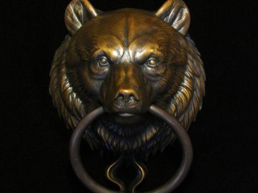 Bear Head Door Knocker