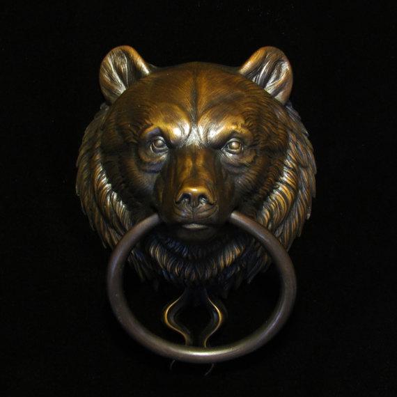 & Bear Head Door Knocker | Bearu0027s Head Doorknocker