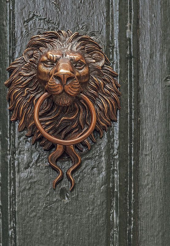lion door knocker tattoo other names head brass