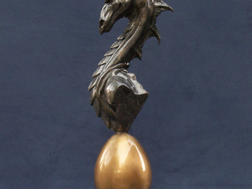 Watchful Dragon Bust Sculpture