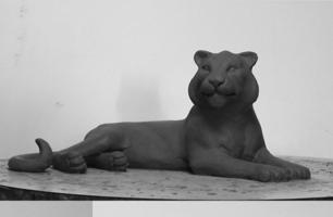 Bronze Tigress Sculpture